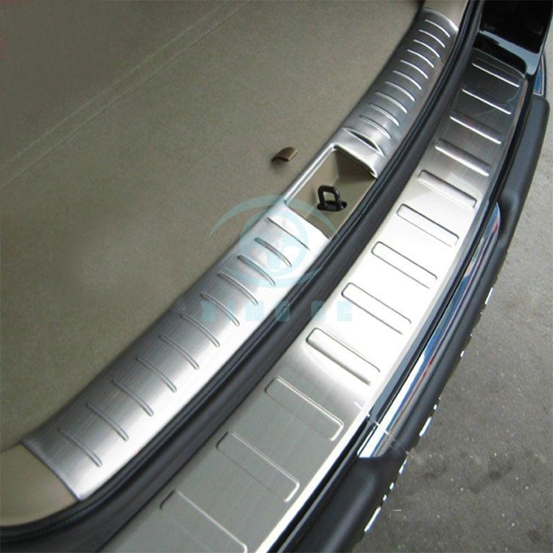 Aço inoxidável para Toyota Highlander 2009 2011 traseiro bar porta placa do peitoril da guarnição - 3