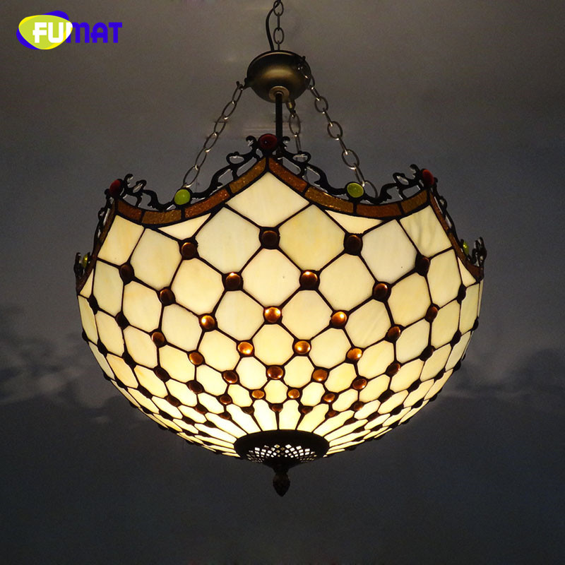 Fumat Stained Glass Pendant Lights European Style Glass