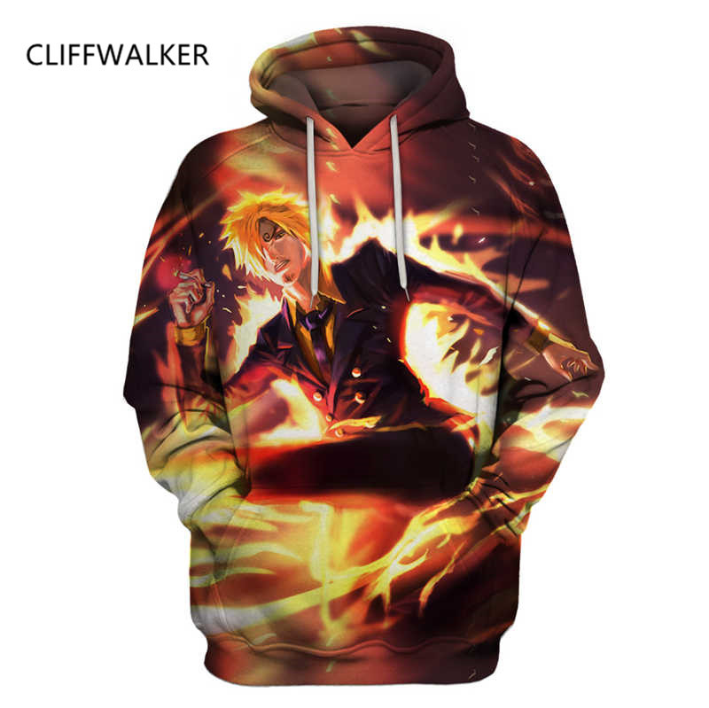 Dropshipping New For Men Women 3D Printed Hoodies Casual Hooded Sweatshirt Anime One Piece Funny Vinsmoke Sanji Style US Size