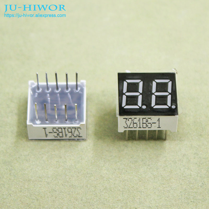 (10pcs/lot) 10 Pins 3621BR 0.36 Inch 2 Digits Bits 7 Segment Red LED Display Common Anode Digital Display
