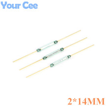 100 pcs Switch Reed Switch 2x14mm Green Glass Normally Open Contact For Sensors 100% Original NO