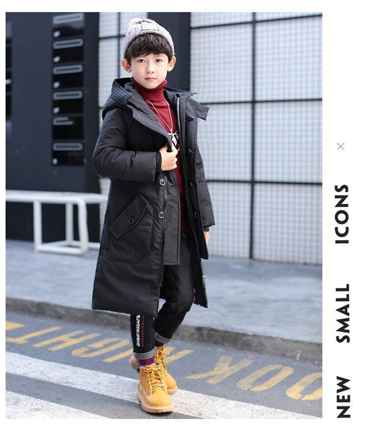 Новое поступление Детские зимние куртки дети Костюмы 2017 большой Обувь для мальчиков теплые зимнее пуховое пальто утепленная верхняя одежд...