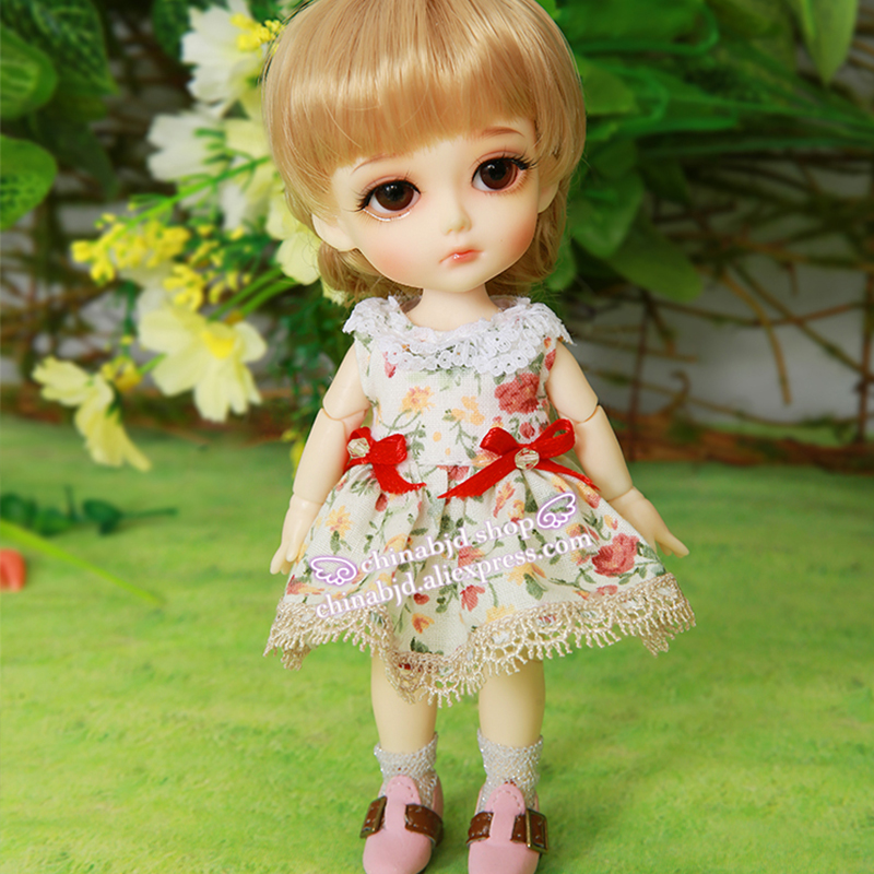 1/8 BJD SD Doll Clothes New Floral Princess Dress Style For Lati Yellow Doll Accessories YF8-106 oueneifs free shipping new floral princess dress skirt lace edge 1 8 bjd sd doll clothes have not wig or doll yf8 106 page 9