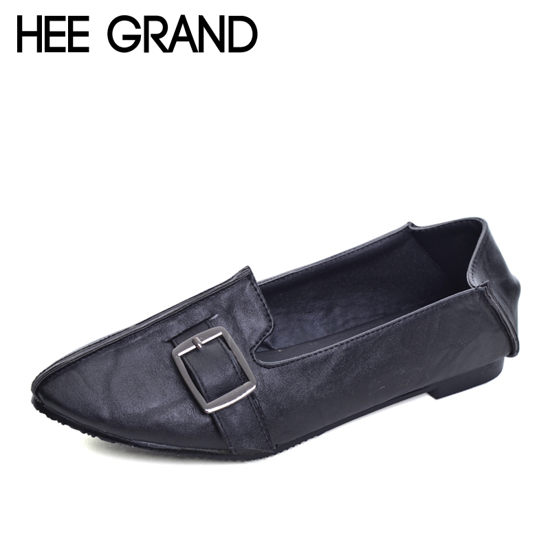HEE GRAND 2017 Ballet Flats Casual Shoes Woman Summer Style Loafers Spring  Pointed Toe Women Flat Shoes Slip On Oxfords XWD3494 spring summer women flat ol party shoes pointed toe slip on flats ladies loafer shoes comfortable single casual flats size 34 41