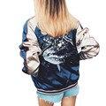 Производители, Продающие Новые Дамской одежды Вышитые Куртки Тонкий Молнии Женщины Куртка Весна