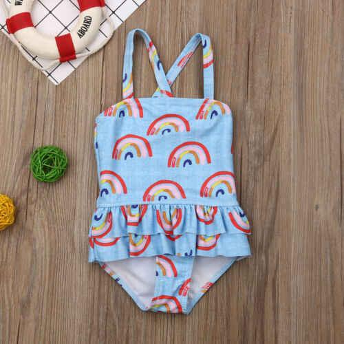 Baru Gadis Pakaian Renang Pakaian Bayi Baju Renang Musim Panas 1 Pcs Gadis Bikini Indah Anak Swimsuit Beachwear Backless Anak-anak