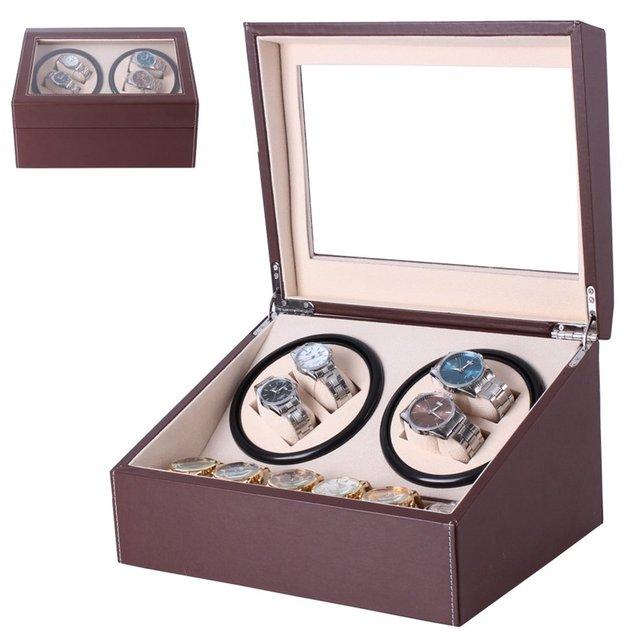 2 rejilla Motor Shaker reloj de cuerda soporte pantalla reloj mecánico automático caja de cuerda reloj caja de almacenamiento caja de reloj