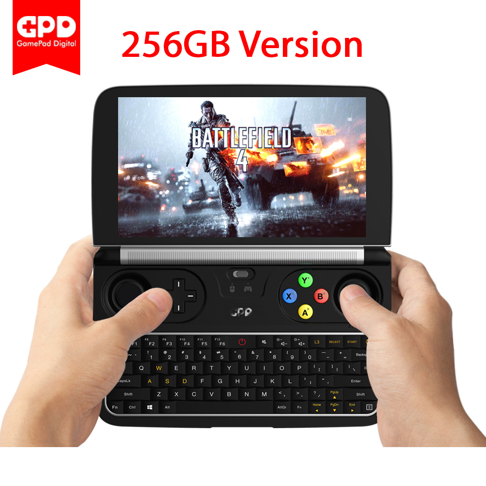 Nova Originais Mais Recente GPD GANHAR 2 WIN2 256 GB 6 Polegada Mini PC Gaming Laptop Intel Core m3-7Y30 Janelas 10 laptop Com Brindes