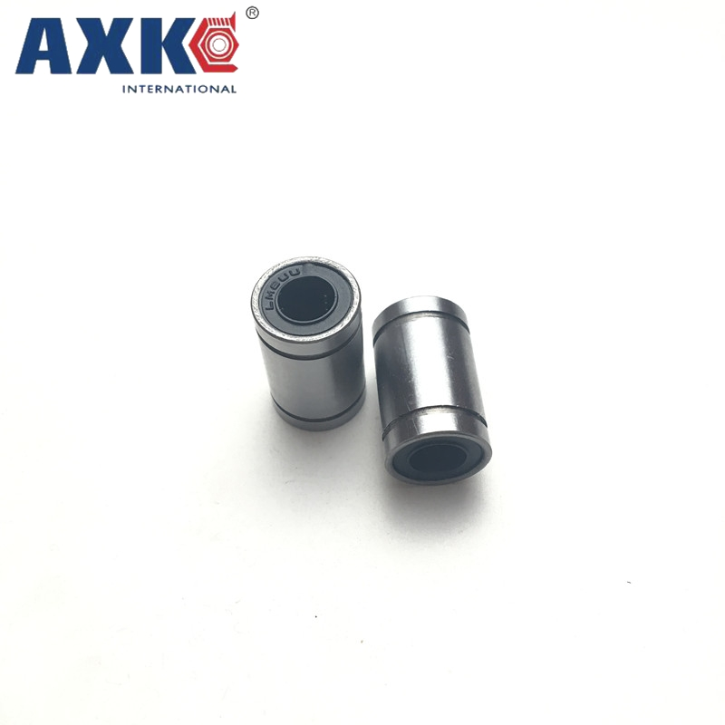 AXK 1pc Linear Ball Bearing Bushing LM8UU LM6UU for 3D Printer Carbon Chromium Bearing Steel lupulley linear bearing bushing lm50uu lm60uu for cnc machines 3d printer bearing steel