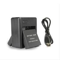 2pcs Battery Pack AZ16 1 USB Charger Dual Charging Adapter For Xiaomi Yi 4K Xiaoyi 2