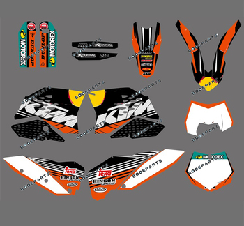RB R B (Blush BULL) Motorcycle Bike All 125-525 Decal Graphics Sticker For KTM 125/200/250/300/325/525 All Models 2007 2008