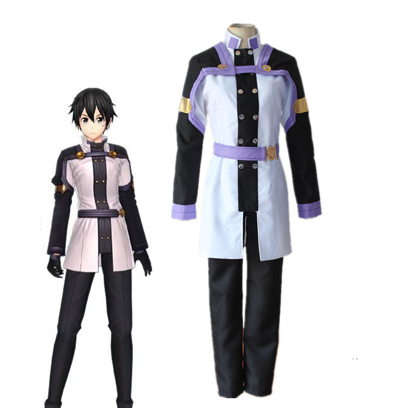Anime SAO Sword Art Online Ordinal Scale Kirigaya Kazuto Uniform Cosplay Costumes Kirito Full Set Costume نورمان من انمي نيفرلاند