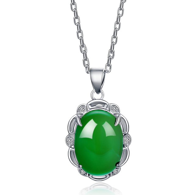 jewelry chalcedony necklace passepartout bead diamond pendant online jade from cargo jewellery agate product pendants transport silver wholesale