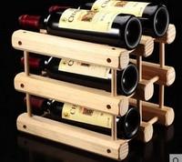 1PC DIY Creative Foldable wine rack Wooden Wine Beer Bottle Rack Organizer Holder Mount Kitchen Bar Display Wine Racks JA 0309