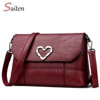 Women Shoulder Bags Fashion Heart Shaped Hardware Bag Shoulder Bags Female PU Leather Women Handbag High