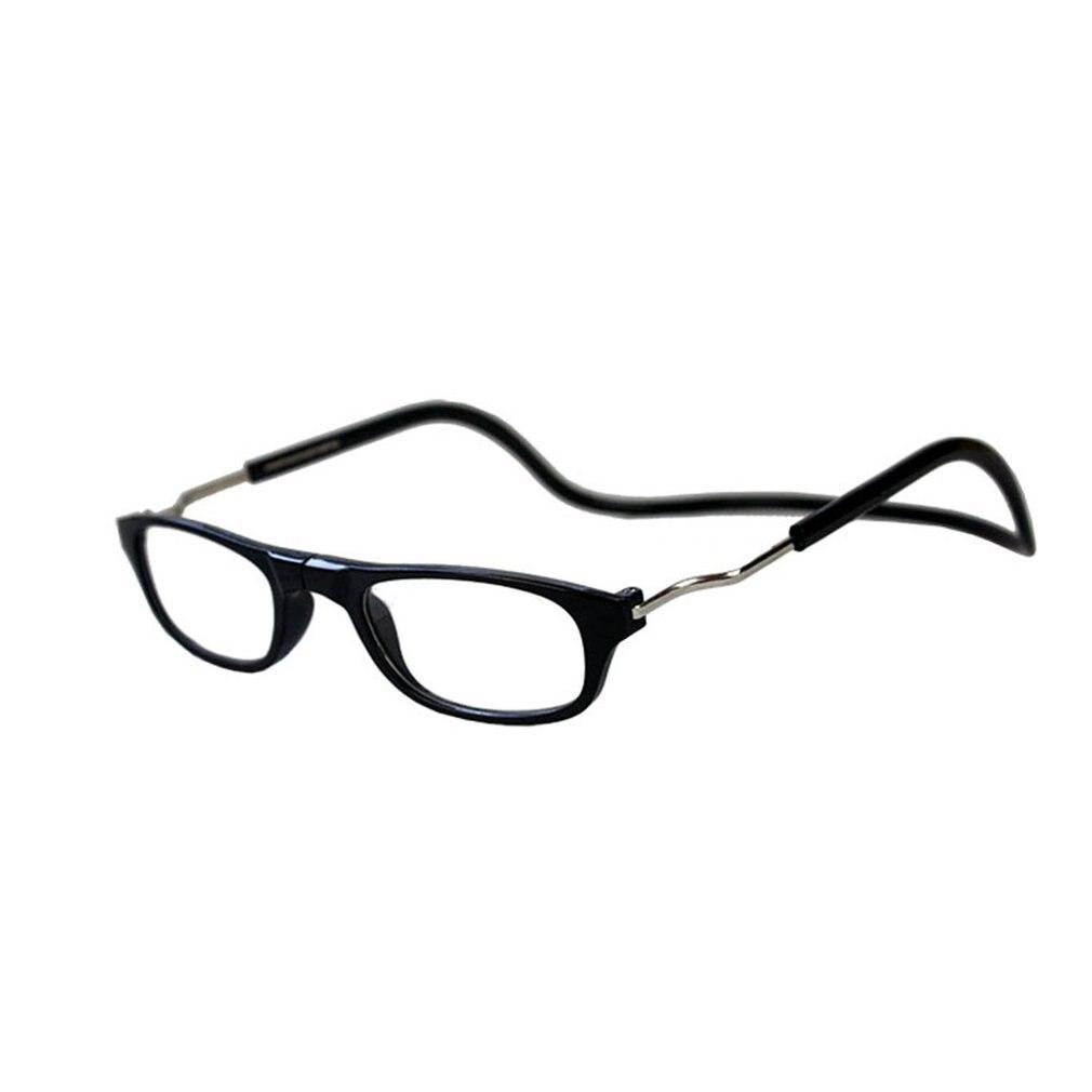360 Degree Folding Hanging Men Women Reading Glasses Visual Aid Reading Aid Eyeglasses Magnet Adjustable