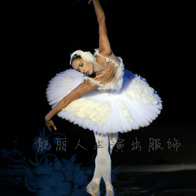 Ballet costume adult ballet  gauze dress black white swan dance dress Adult Professional Swan Lake Tutu Ballet Costume dress