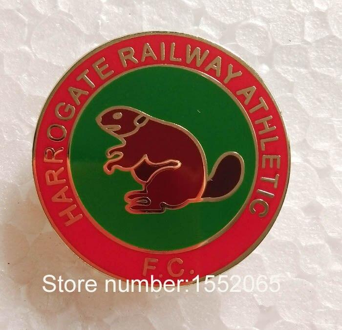 Custom FC Soccer Pin Badge HARROGATE RAILWAY ATHLETIC FC Soccer Lapel Pin