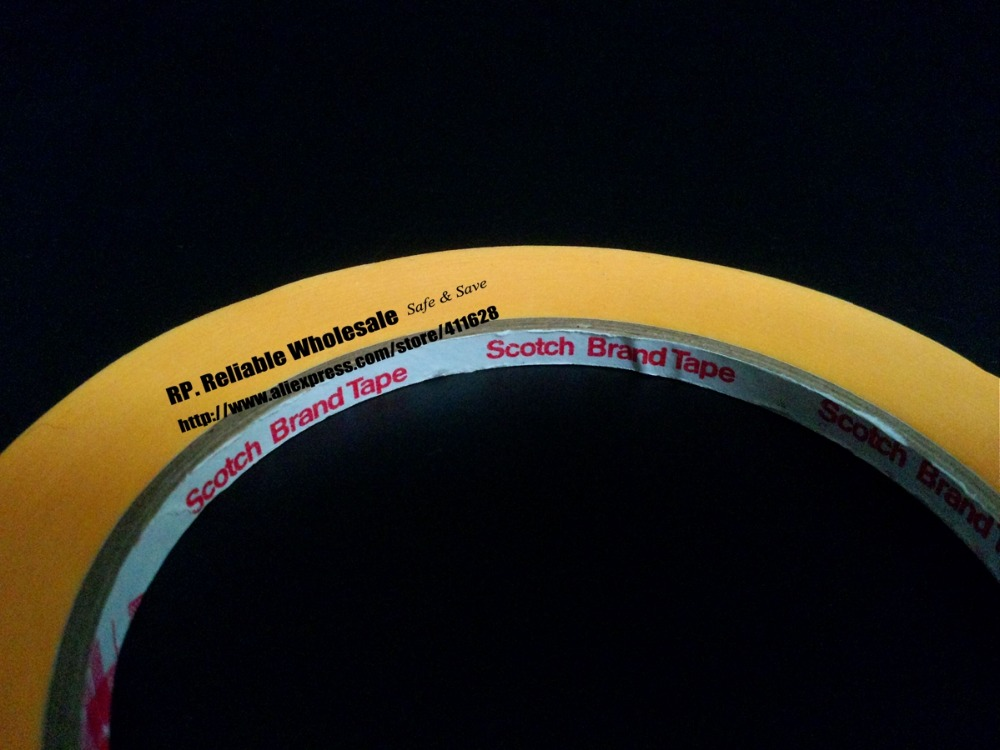 10x (15mm*50M) New 3M 3M244 Yellow Masking Tape for PCB Auto High Temperature Painting Coating Shielding Protecting 1 x55m 3m 232 scotch high performance masking tape for medium temperature paint bake operations