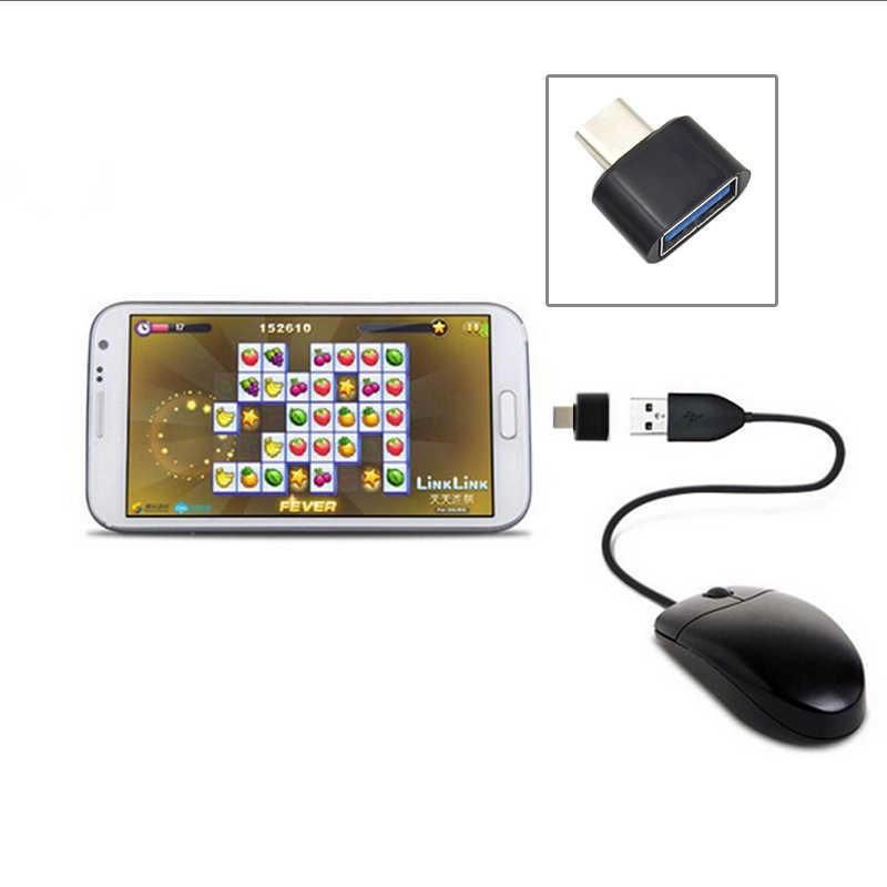Urijk USB Android Adapter Chuyển Đổi Mini Micro USB Đực sang USB Nữ Đầu Chuyển Đổi cho Huawei Xiaomi Smartphone Máy Tính Bảng