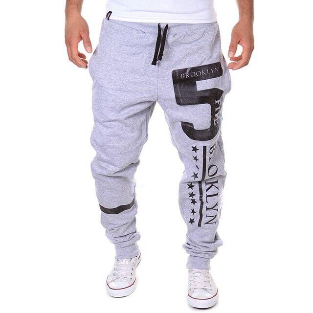 2016 New Fashion Mens Harem Pants Joggers Sweatpants Pants Men Casual Letter Print Hip Hop Pants Solid Trousers 13M0465