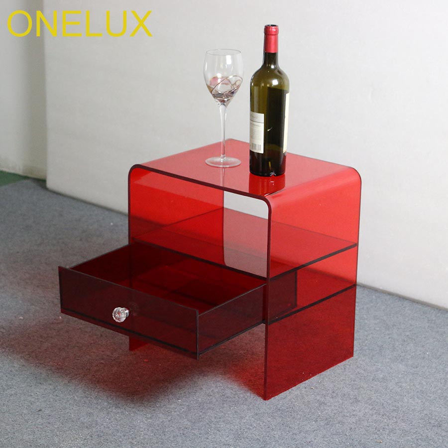 Waterfall Acrylic Drawer Nightstands,Lucite bedroom bedside table все цены