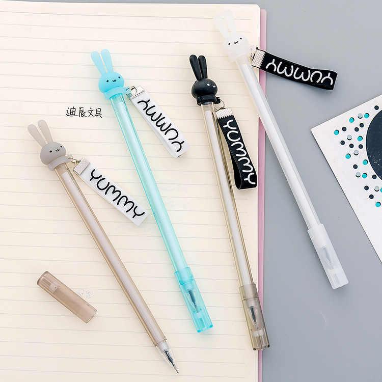 1PC mignon dessin animé lapin streamer gel stylo étudiant stylo créatif écriture stylo bureau papeterie