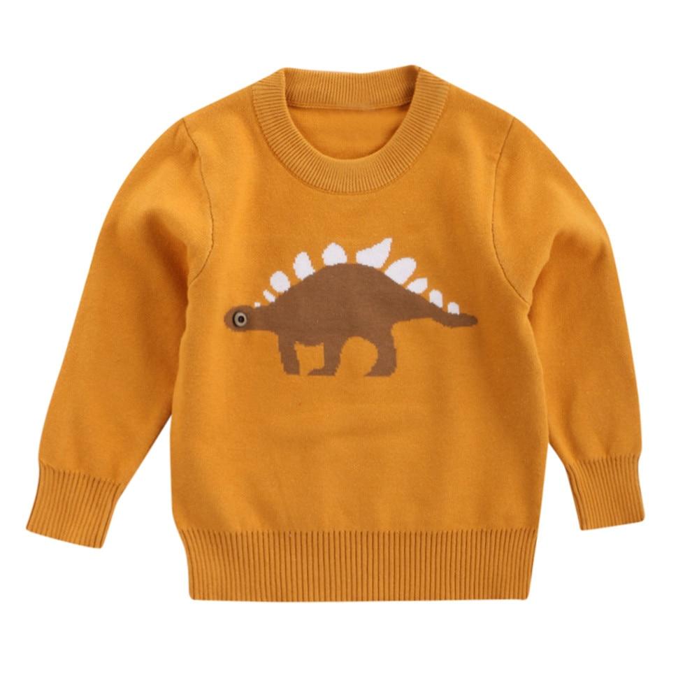 Boys Girls Baby Kids Casual Autum Winter Dinosaur Long sleeve Sweaters Soft Warm Children's Sweater Coats