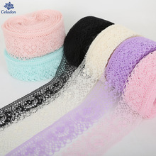 Wholesale Retail Multi Color 10 Yards/lot Width 40mm Lace Ribbon DIY Embroidered Net Lace Trim Fabric For Sewing Decoration