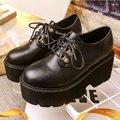 Дизайнер Старинные Круглым Носком Туфли Новый Стиль Криперс Оксфорд Обувь Женская Туфли На Платформе Дамы Удобные Каблуки Платформы