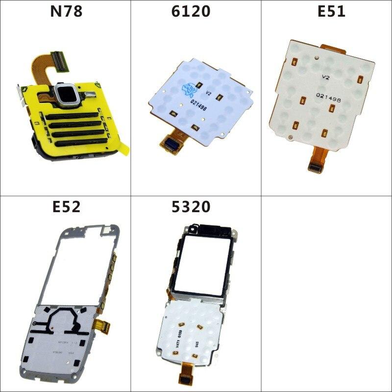 Mobile Phone Flex Cables Replacement Keypad Keyboard Joystick Membrane Flex Cable For Nokia N78 6120 E51 E52 5320