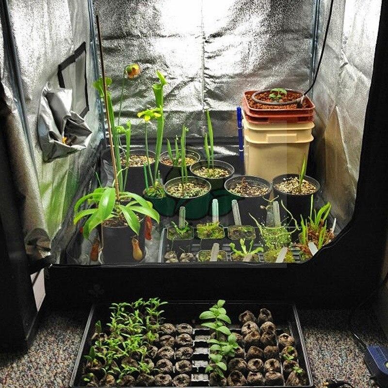 Système hydroponique serre de jardin serre d'intérieur 600D 40x40x78 pouces (100x100X200 cm) Thermostat Ventilation balconnet serre