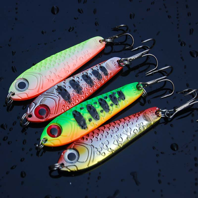 Image 2 - Hot sale 4Pcs High Quality Metal Spoon Fishing Lure Seawater Fishing Bait Jigging Lures Leurre Peche Jig Wobbler 65mm 21g-in Fishing Lures from Sports & Entertainment