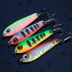 Image 2 - Hot sale 4Pcs High Quality Metal Spoon Fishing Lure Seawater Fishing Bait Jigging Lures Leurre Peche Jig Wobbler 65mm 21g