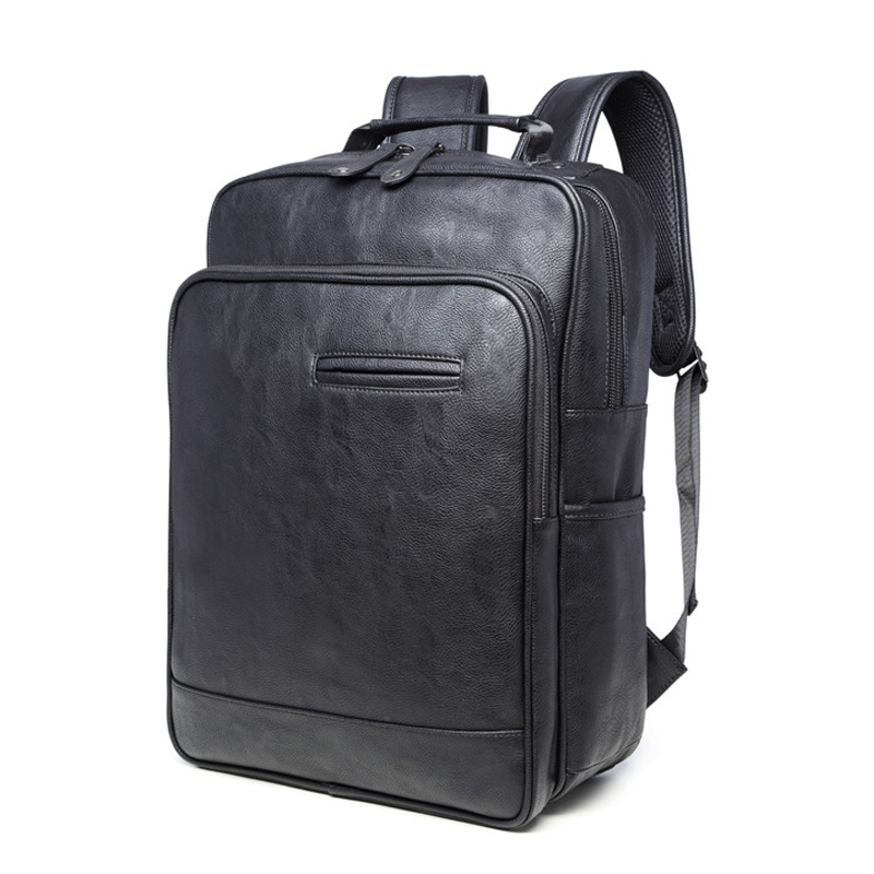 Backpack high-capacity Travel bags Vintage male Pu leather simple backpacks Business laptop bag men and women student school bag backpack canvas travel bag backpacks fashion men and women designer student bag laptop bags high capacity backpack 2017 new