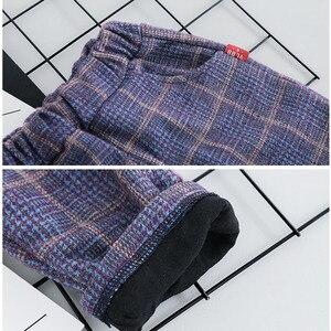 Image 5 - ילד תינוק ילד משובץ חליפת סטי בגדי אופנה 3PCS פעוט בנות תינוק חליפת מעיל + T חולצה + מכנסיים 1 4 Y