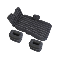 Multifunction Inflatable Air Mattress Car Seat Bed For Travel Camping PVC Flocking Auto Inflatable Bed Traveling Bed