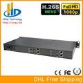DHL Frete Grátis HEVC Chassis 1U 4 Canais HDMI IPTV Codificador H.265/H.264 HDMI Para IP Codificador de Hardware Para A Transmissão Ao Vivo, IPTV