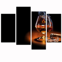 Modern Canvas Wall Art For Wall High Definition Picture Print Whisky And Cigarette Poster For Home
