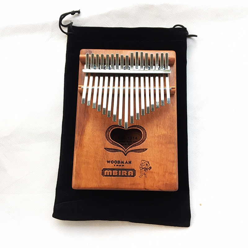 Kalimba Mbira Likembe Sanza Thumb Piano 17 Button C major Mahogany Give Related Accessories Simple Musical Instrument