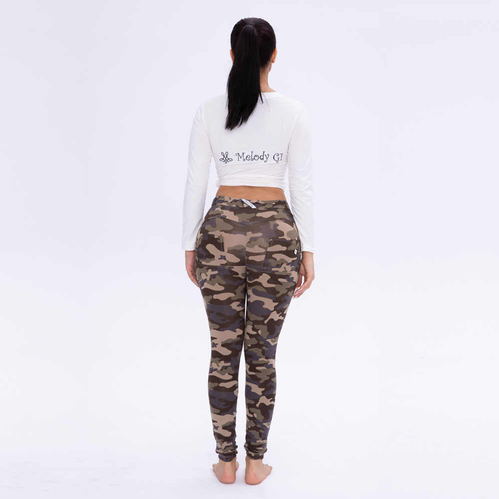 Melody army pants woman butt push up pants low waist women camo pants in  stock forever