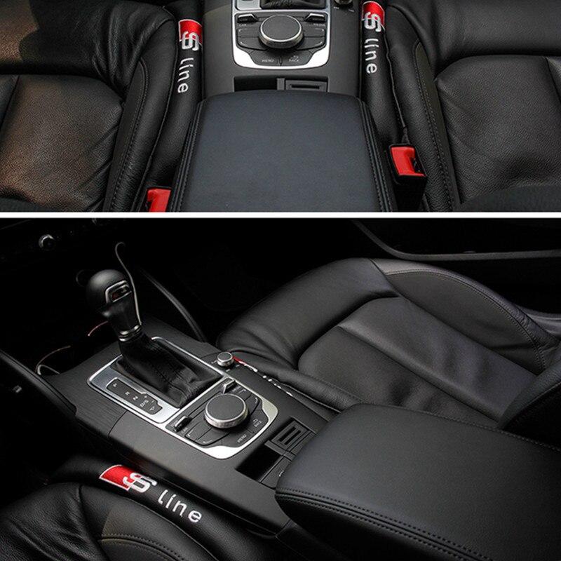 2pcs Car Seat Gap Filler Sticker For audi a4 a5 a6 b5 b6 b7 q3 q5 q7 rs quattro s line c5 c6 tt sline a3 a7 Car Accessories