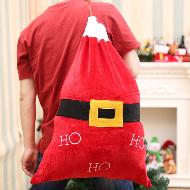 Christmas Gift Bags For Kids.Us 6 65 35 Off 35 71cm Santa Sack Christmas Gift Bag Kids Candy Bags Chrismas Decorations For Home Decoration Accessories Xmas Products In Stockings