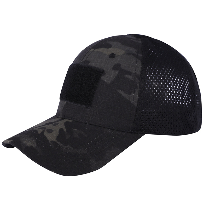 TACVASEN Men Tactical Mesh Hats Summer Cotton Camouflage Military Baseball Caps Sun Protective Lightweight Army Combat Hats Caps