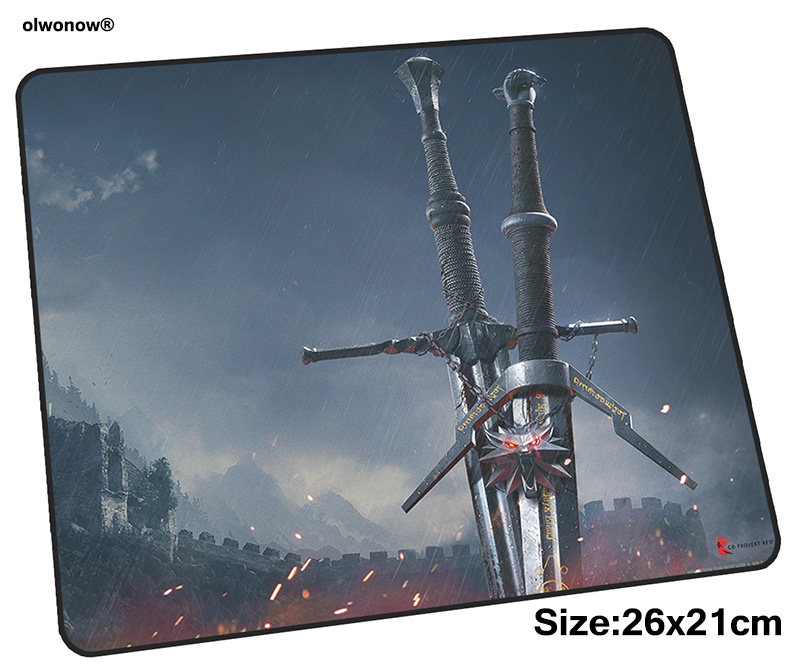 witcher mousepad 26x21cm gaming mouse pad big gamer mat anime game computer desk padmouse keyboard New arrival play mats