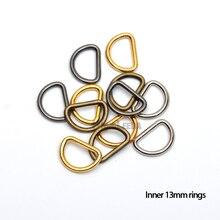 150 шт./партия, 13 мм, 0,5 дюймов, металлический круглый сплав, d-образное кольцо, Регулируемая пряжка, серебро/черный/бронза/золото, RDR-13mm