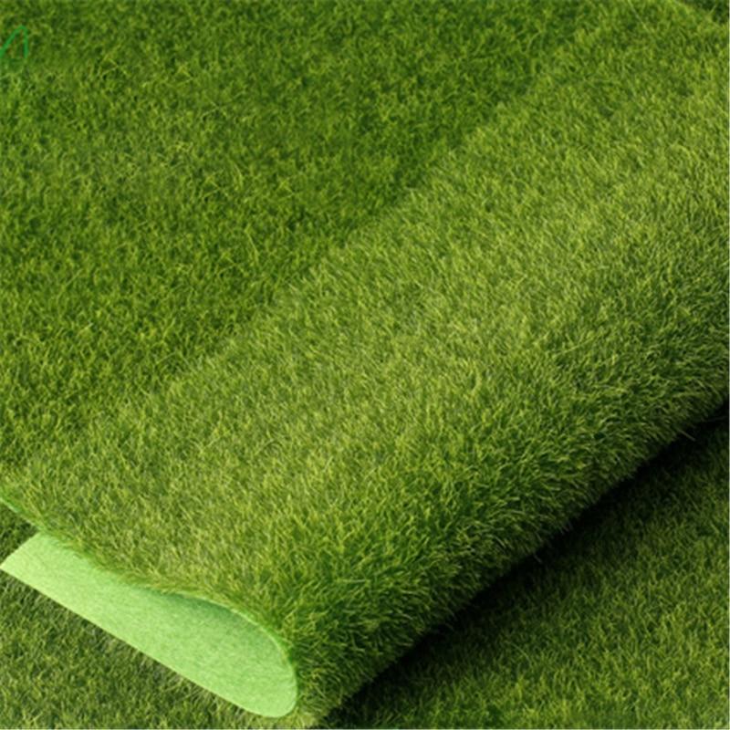15pcs Grass Mat Green Artificial Lawns 15x15cm Small Turf