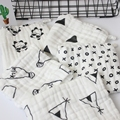 (Toalla del bebé 5 unids) 6 capas de algodón muselina toallita de bebé bebé pañuelo toalla 25x25 cm absorbente y suave para los bebés varones