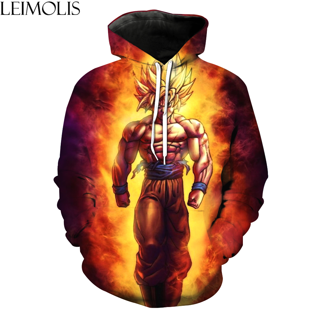 LEIMOLIS 3d print Saiyan Son Goku funny Hoodies men streetwear DropShip casual harajuku sweatshirts hip hop Hooded Pullover