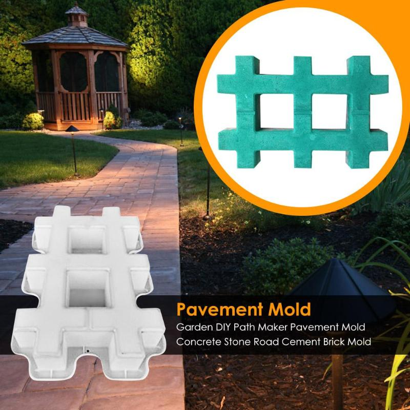 Concrete Mold Pavement DIY Plastic Path Maker Mold Paving Cement Brick The Stone Road Paving Moulds Tool For Garden Decoration